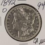 1892-O MORGAN DOLLAR - AU