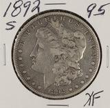 1892-S MORGAN DOLLAR - XF