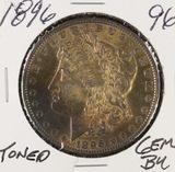 1896 - MORGAN DOLLAR - GEM BU - TONED