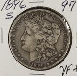 1896-S MORGAN DOLLAR -VF