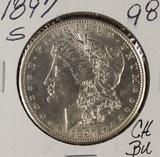 1897-S MORGAN DOLLAR - BU