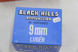1 Box of 50, Black Hills 9 mm Luger 125 gr Lead RN