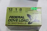 1 Box of 20, Federal Dove 12 ga 1 oz 8 Shot 2 3/4