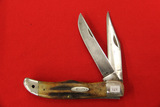 Case # none, 2 Blade Pocket Knife, Stag Handles,