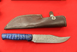 Hand Made Sheath Knife, Damascus Blade, with