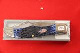 Case #6165SS, Single Blade Pocket Knife, Blue