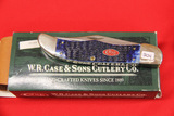 Case #6265SS 2 Blade Knife with Blue Bone