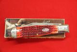 Case #61050SS, Single Blade Pocket Knife, Red