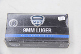 1 Box of 50, MFS 9 mm Luger 115 gr FMJ