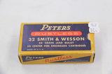 1 Box of 33, Peters Rustless 32 S & W 88 gr Lead