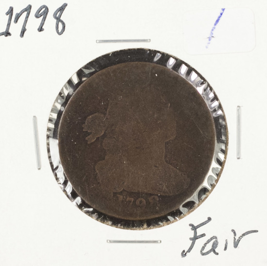 1798 - DRAPED BUST  - LARGE CENT - FAIR