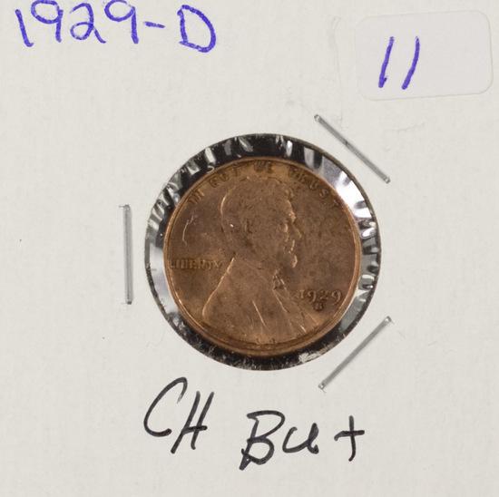 1929-D LINCOLN CENT - CH BU