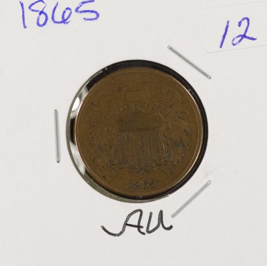 1865 - TWO CENT PIECE - AU