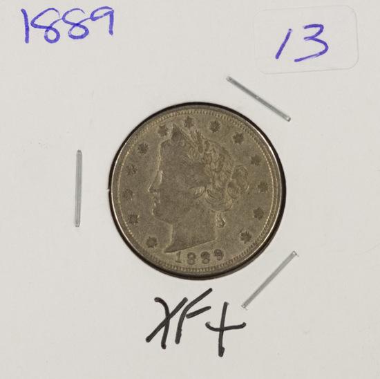"1889 - LIBERTY HEAD ""V"" NICKEL - XF+"