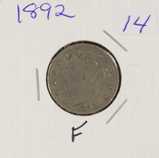 "1892 - LIBERTY HEAD ""V"" NICKEL - F"
