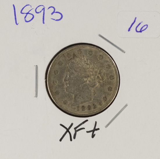 "1893 - LIBERTY HEAD ""V"" NICKEL - XF+"