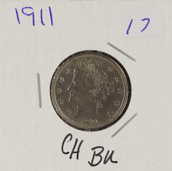 """1911 - LIBERTY HEAD """"V"""" NICKEL - CH BU"""