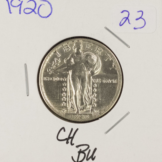 1920 - STANDING LIBERTY QUARTER -CH BU