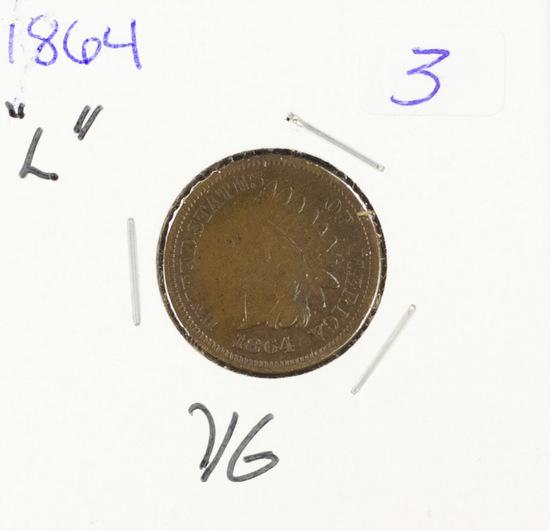 1864-L INDIAN HEAD CENT - VG