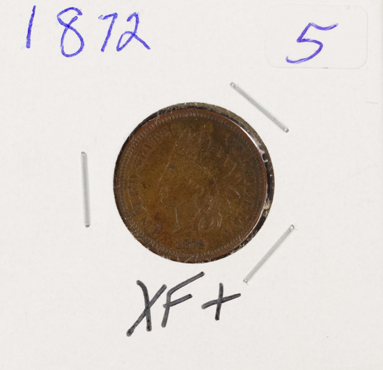 1872 - INDIAN HEAD CENT - XF+
