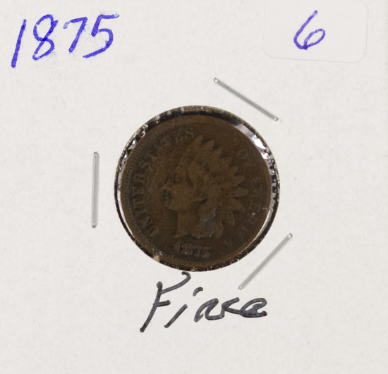 1875 - INDIAN HEAD CENT - F