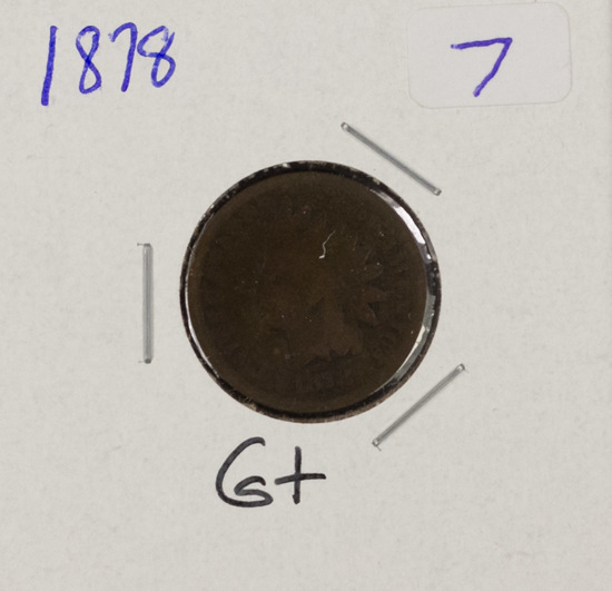 1878 - INDIAN HEAD CENT - G+