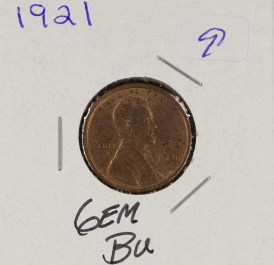 1921 - LINCOLN  CENT - GEM BU