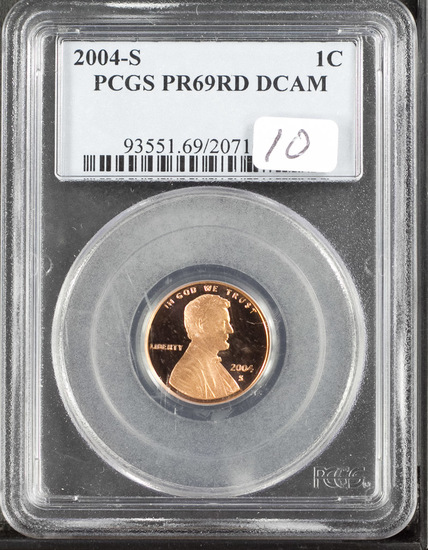 2004-S PCGS Proof 69 Red Deep Cameo Lincoln