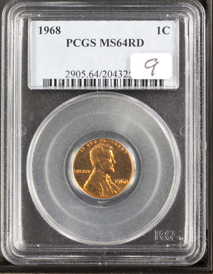 1968 PCGS MS64 Red Lincoln Cent