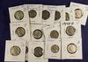 Lot of 15, Silver WWII Jefferson Nickels