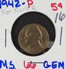 Lot of 2, 1942 UNC, 1962 Proof Jefferson Nickels