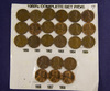 1950's -1958 PDS, Complete Lincoln Cents Set