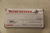 1 Box of 50, Winchester 380 Auto Target 95 gr