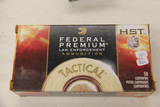 1 Box of 37, Federal Tactical 40 S&W 150 gr