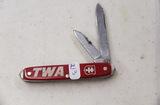 2 Blade Pocket Knife Advertising TWA