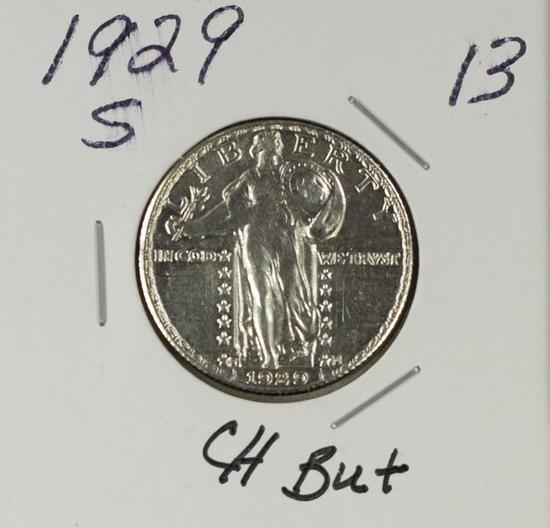 1929-S STANDING LIBERTY QUARTER - CH BU