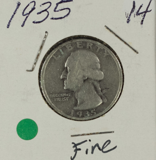 1935 - WASHINGTON QUARTER - F