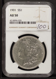 1901 - NGC AU50 MORGAN DOLLAR