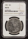 1901 - NGC AU55 MORGAN DOLLAR