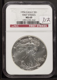 1994 - NGC MS69 SILVER EAGLE FIRST STRIKE