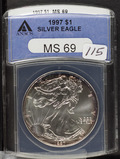 1997 - ANACS MS69 - SILVER EAGLE