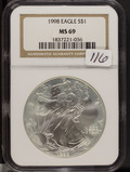 1998 - NGC MS69 - SILVER EAGLE