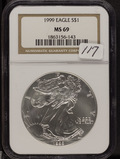 1999 - NGC MS69 - SILVER EAGLE