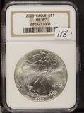 2000 - NGC MS69 - SILVER EAGLE