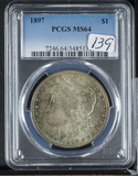 1897 - PCGS MS64 MORGAN DOLLAR