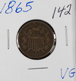 1865 - TWO CENT PIECE - VG