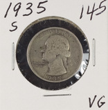 1935-S WASHINGTON QUARTER - VG