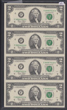 SHEET OF 4 - TWO DOLLAR SERIES OF 2003