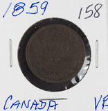 1859 - CANADIAN LARGE CENT - VF+