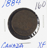 1884 - CANADIAN LARGE CENT - XF